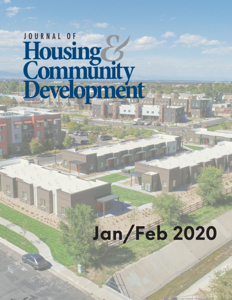 January/February 2020 Journal of Housing Cover