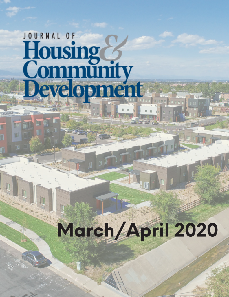 March/April 2020 Journal of Housing Cover