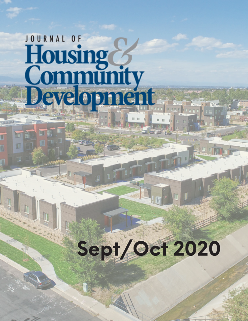 September/October 2020 Journal of Housing Cover