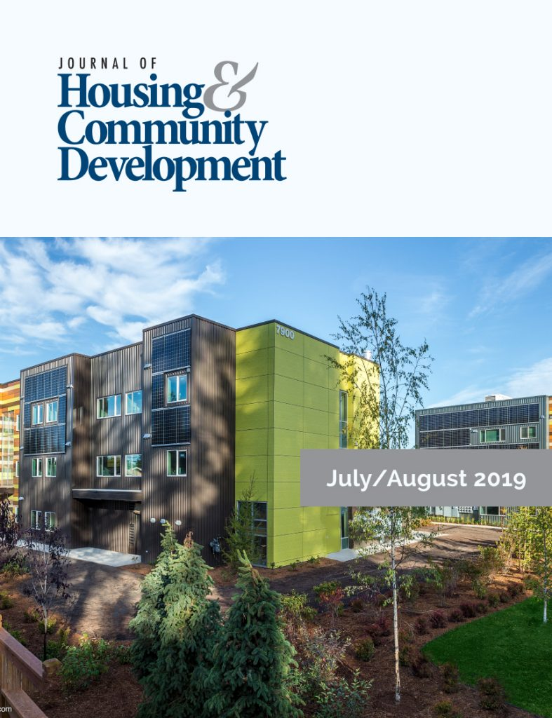 July/August 2019 Journal of Housing Cover