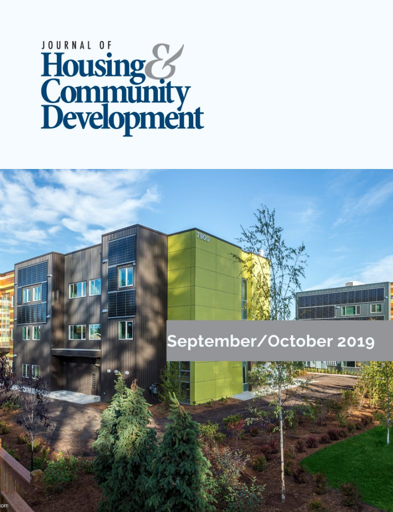September/October 2019 Journal of Housing Cover