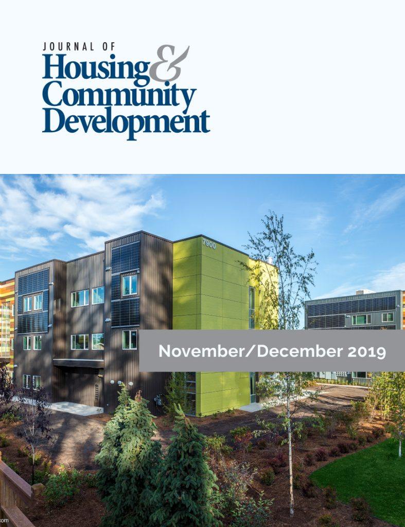 November/December 2019 Journal of Housing Cover